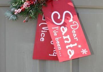Festive Winter Door Decor