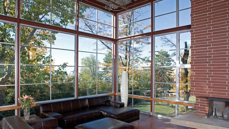 Milgard Aluminum windows in home