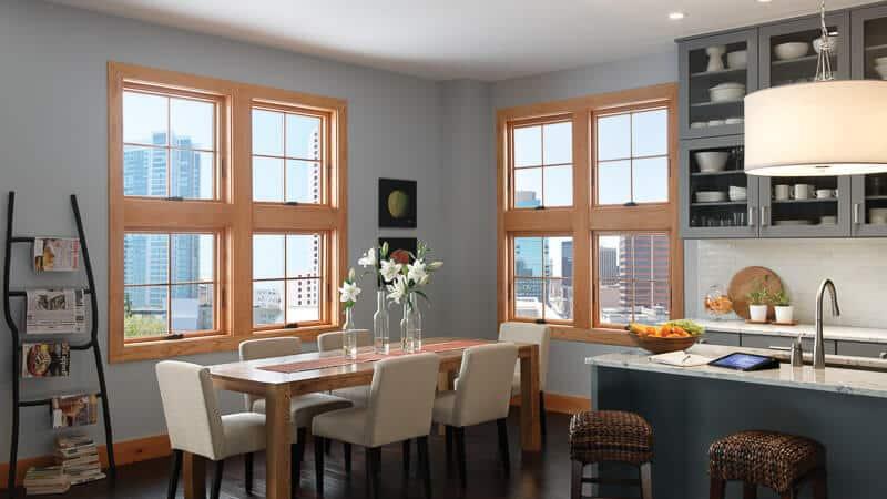 Milgard Clad Wood Windows in Seattle Apartment